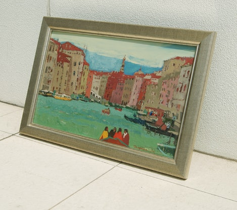 (CreativeWork) Evening on the Grand Canal, Venice by Tetyana Khytko. #<Filter:0x00007f73243bf0d0>. Shop online at Bluethumb.