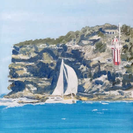 (CreativeWork) South Head by Geoff Hargraves. Oil Paint. Shop online at Bluethumb.