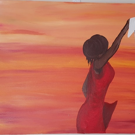 (CreativeWork) Remember one Aussie summer by Ozlum Guccuk. Acrylic Paint. Shop online at Bluethumb.