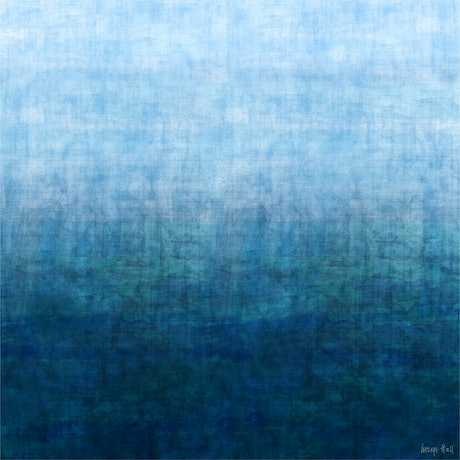 (CreativeWork) GRADUAL SEASCAPE - Mixed Media on canvas 127cm Square by George Hall. Mixed Media. Shop online at Bluethumb.