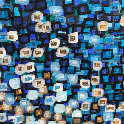 (CreativeWork) Hip to be square, blue - CZ20001 by Carol Zsolt. #<Filter:0x00007f7328121220>. Shop online at Bluethumb.