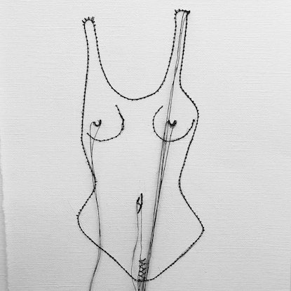 (CreativeWork) Female Garment  by Jasmine Radakovic. Drawings. Shop online at Bluethumb.