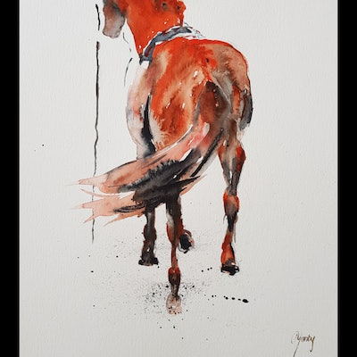 (CreativeWork) Rear View by Christine Manby. Watercolour Paint. Shop online at Bluethumb.