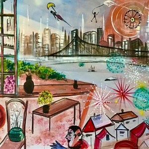 (CreativeWork) Window Over Brisbane by Louise Croese. #<Filter:0x00007f995cd37028>. Shop online at Bluethumb.