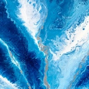 """(CreativeWork) """"Inside the waves"""" Abstract Painting blue tones by Debra Ryan. #<Filter:0x000055b1a7228400>. Shop online at Bluethumb."""