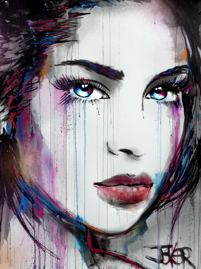 (CreativeWork) HER EXPECTATIONS by loui jover. Drawings. Shop online at Bluethumb.