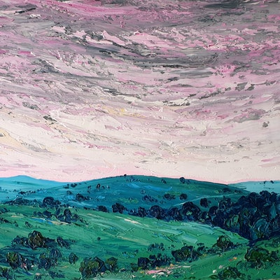(CreativeWork) View Over The Southern Tablelands by Angela Hawkey. #<Filter:0x00007f06609959b8>. Shop online at Bluethumb.
