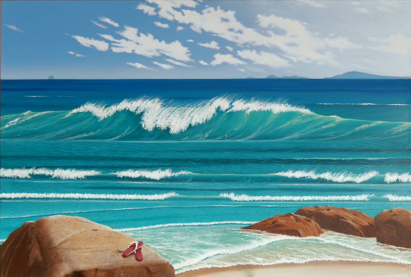 (CreativeWork) Whisky Bay by Tony Beckley. Acrylic Paint. Shop online at Bluethumb.