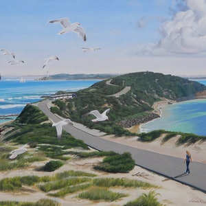 (CreativeWork) Seagulls over Point Nepean by Lance Ross. #<Filter:0x00007fbc894d3760>. Shop online at Bluethumb.