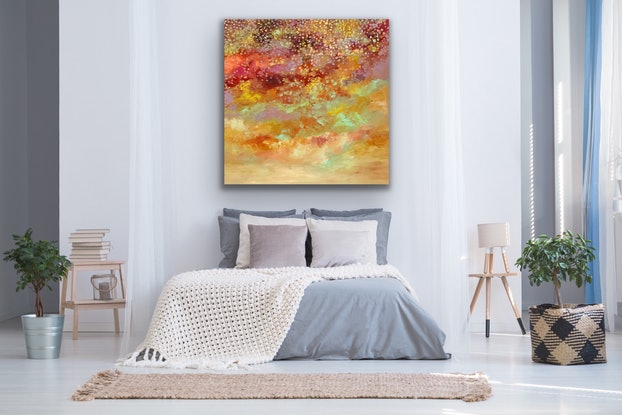 (CreativeWork) Exquisite Beauty by Theo Papathomas. Acrylic Paint. Shop online at Bluethumb.