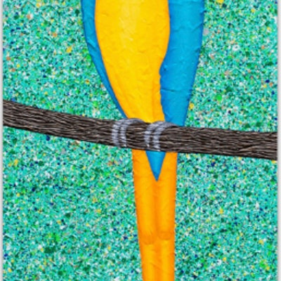 (CreativeWork) Macaw Parrot textured abstract by Miranda Lloyd. #<Filter:0x000055773c6c28a8>. Shop online at Bluethumb.