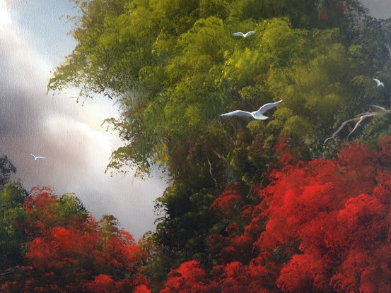 (CreativeWork) Gull's Paradise by Elaine Green. Oil Paint. Shop online at Bluethumb.