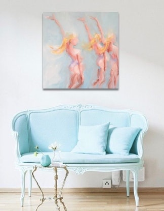 (CreativeWork) Apollo's Muses by Jan Brown. Oil Paint. Shop online at Bluethumb.