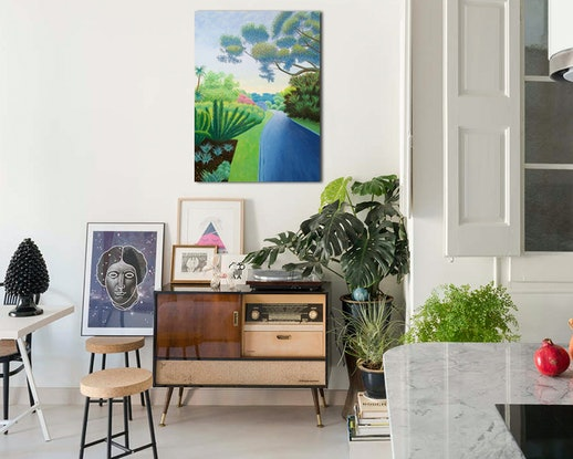 (CreativeWork) Seclusion by Geoff Harrison. Oil Paint. Shop online at Bluethumb.