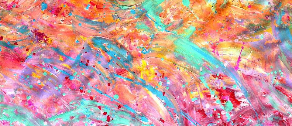 (CreativeWork) Effervescent Love by Estelle Asmodelle. Acrylic Paint. Shop online at Bluethumb.