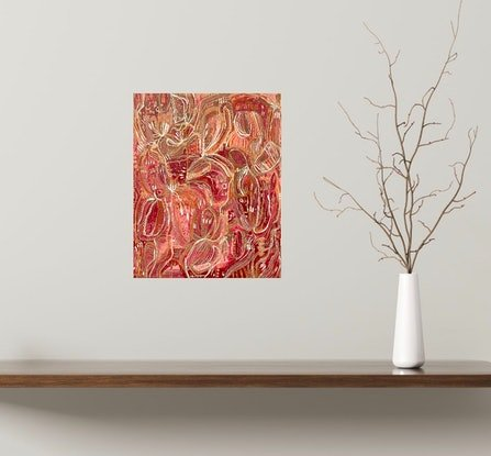 (CreativeWork) Spice Blush  by Carley Bourne. Acrylic Paint. Shop online at Bluethumb.