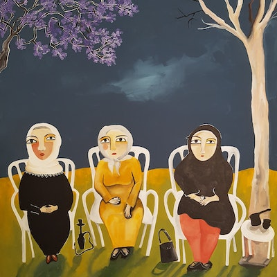 (CreativeWork) Grandmas in the park by Amani Haydar. #<Filter:0x000055a24c60c400>. Shop online at Bluethumb.