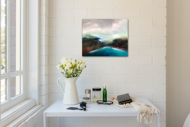 (CreativeWork) Bay, Great Ocean Road by Joanne Duffy. Oil Paint. Shop online at Bluethumb.