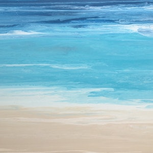 "(CreativeWork) ""Huskisson"" beach paintings on canvas by Debra Ryan. #<Filter:0x0000559a31396360>. Shop online at Bluethumb."