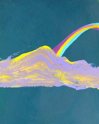 (CreativeWork) Somewhere over the rainbow by Yunn Ru Soo. Acrylic Paint. Shop online at Bluethumb.