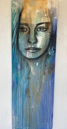 (CreativeWork) Oceanic Dreamer  by Jet James. Mixed Media. Shop online at Bluethumb.