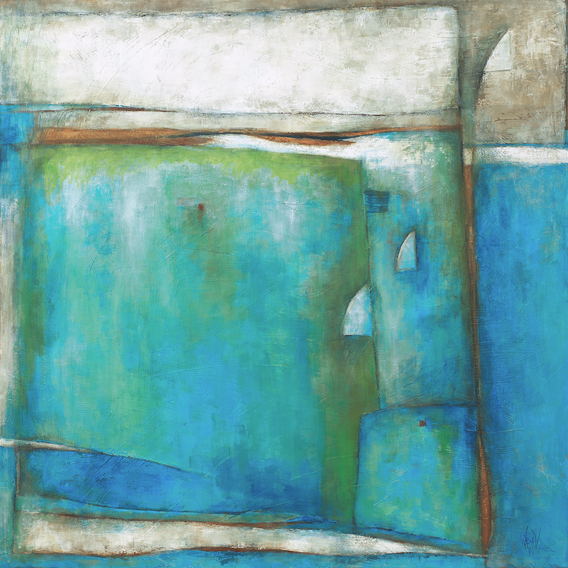 (CreativeWork) 'SUMMER WATERS' by Wendy Wooden. Acrylic Paint. Shop online at Bluethumb.