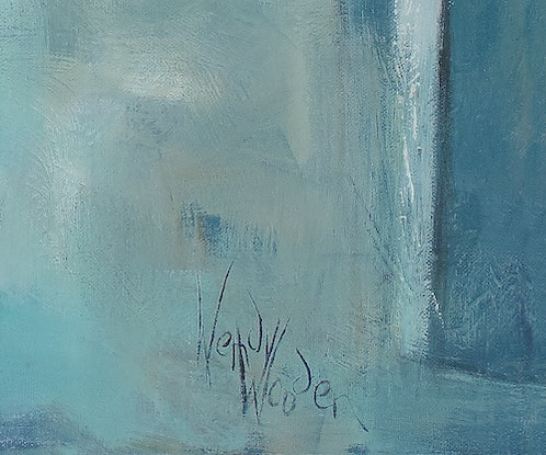 (CreativeWork) 'TRAVERSING TANGIER' by Wendy Wooden. Acrylic Paint. Shop online at Bluethumb.