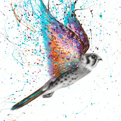 (CreativeWork) Outback Spirit Bird  by Ashvin Harrison. Acrylic Paint. Shop online at Bluethumb.