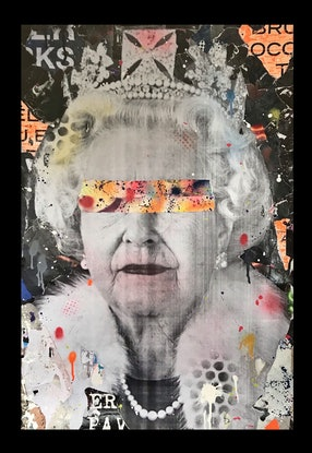 (CreativeWork) Street Icon 194 - Old Queen II by Cold Ghost. Mixed Media. Shop online at Bluethumb.