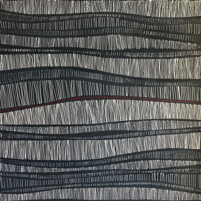 (CreativeWork) Undulation by natalie green. Acrylic Paint. Shop online at Bluethumb.