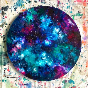 (CreativeWork) WRITTEN IN THE STARS by Danielle Monique. Acrylic Paint. Shop online at Bluethumb.