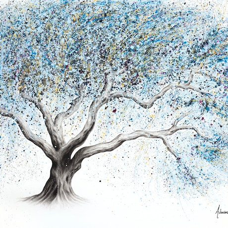(CreativeWork) Frosty Whisper Tree by Ashvin Harrison. Acrylic Paint. Shop online at Bluethumb.
