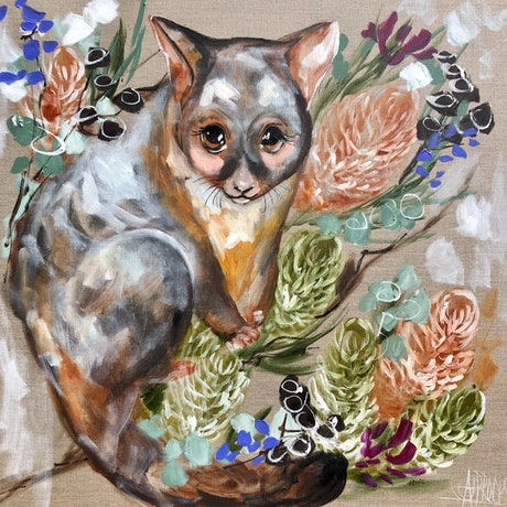 (CreativeWork) Forget me not possum  Ed. 2 of 10 by Amanda Brooks. Print. Shop online at Bluethumb.