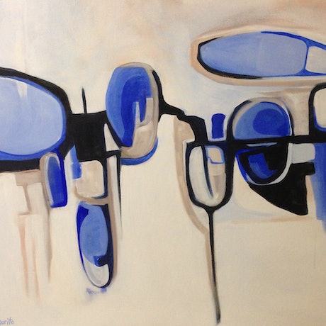 (CreativeWork) ShiftiNg Shapes  by Margo Vigorito. Acrylic Paint. Shop online at Bluethumb.