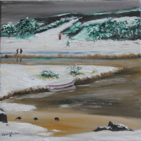 (CreativeWork) Lake Crackenback 4 by Ralph Coles. Oil Paint. Shop online at Bluethumb.