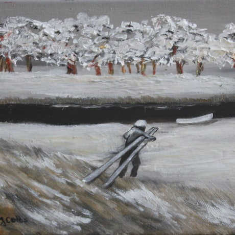 (CreativeWork) Lake Crackenback 5 by Ralph Coles. Oil Paint. Shop online at Bluethumb.