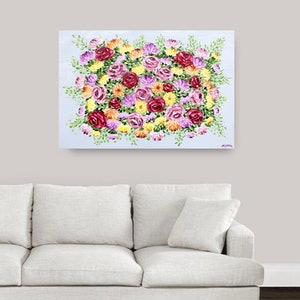 (CreativeWork) Vibrant Bouquet  by Ashley Bunting. #<Filter:0x00007fba50985be0>. Shop online at Bluethumb.