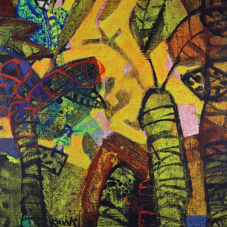 (CreativeWork) Rainforest 3 by Piotr Kownacki. Acrylic Paint. Shop online at Bluethumb.