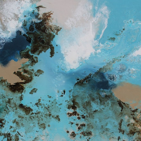 (CreativeWork) Azure by Sue Dyde. Mixed Media. Shop online at Bluethumb.