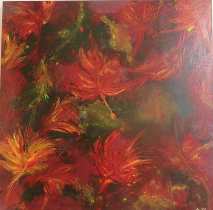 (CreativeWork) Autumn1 by Robyn Michael. Acrylic. Shop online at Bluethumb.