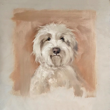 (CreativeWork) Bob by Donna Christie. Oil Paint. Shop online at Bluethumb.