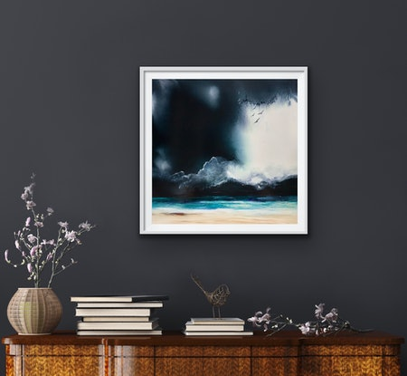 (CreativeWork) The Voice of the Sea by Meg Lewer. Mixed Media. Shop online at Bluethumb.