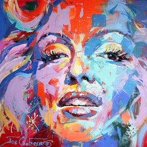 (CreativeWork) Marilyn by Jos Coufreur. #<Filter:0x00007ff1f0959798>. Shop online at Bluethumb.
