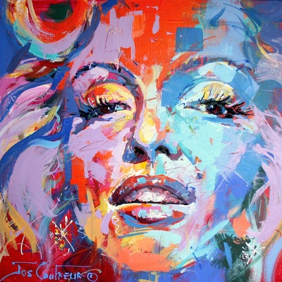 (CreativeWork) Marilyn by Jos Coufreur. #<Filter:0x00007f9c5c9c0cc0>. Shop online at Bluethumb.