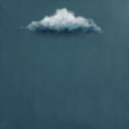 (CreativeWork) Grey Cloud by Donna Christie. Oil Paint. Shop online at Bluethumb.