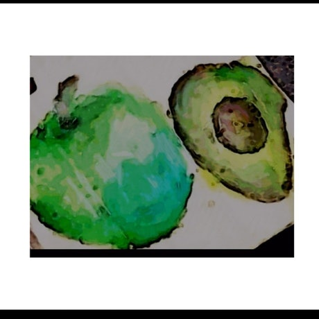 (CreativeWork) Shades of green by Sophie Dallimer. Oil Paint. Shop online at Bluethumb.