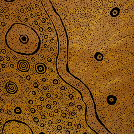 (CreativeWork) Kaltukatjara Rockholes (18-1427KA) by Marlene Connelly. Acrylic Paint. Shop online at Bluethumb.