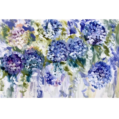 (CreativeWork) Cascading hydrangea and wisteria   by Amanda Brooks. #<Filter:0x00007f0660ad3c30>. Shop online at Bluethumb.