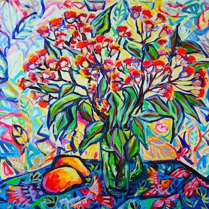 (CreativeWork) Flowering Gum by Katerina Apale. #<Filter:0x000055c6e16d4ae0>. Shop online at Bluethumb.