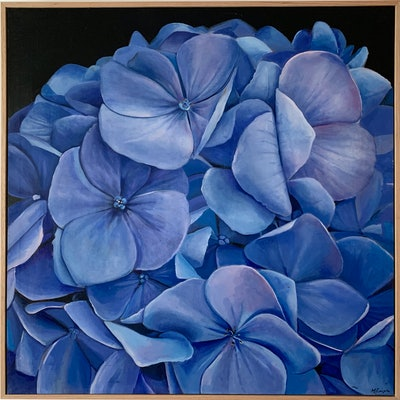 (CreativeWork) HYDRANGEA by Madeleine Simson. #<Filter:0x00007f02d014e590>. Shop online at Bluethumb.